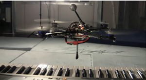 drone-quadcopter-playing-piano
